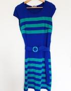 Sukienka 46 niebiesko zielona...