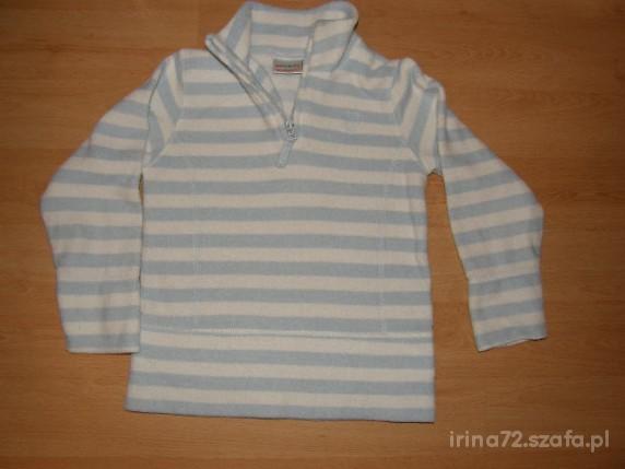 NEXT śliczna polarowa bluza w pasy r 122 7 lat