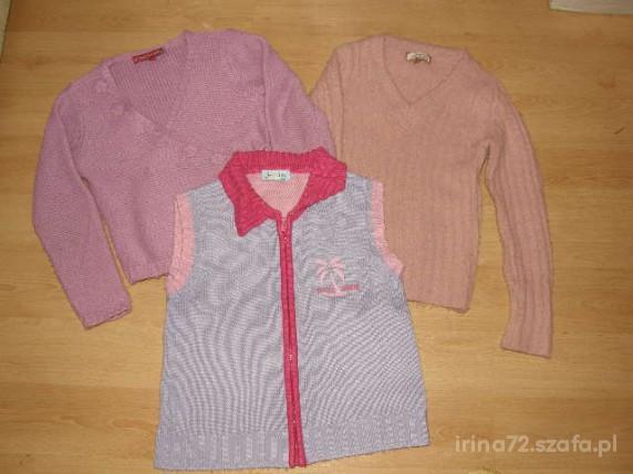 Zestaw firmowych sweterków na zimę 7 8 lat