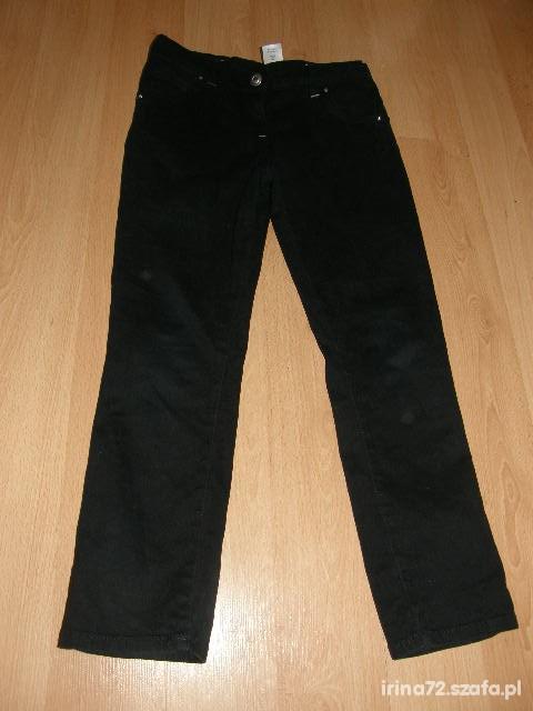SUPER Czarne spodnie rurki Cherokee 6 7 lat 122