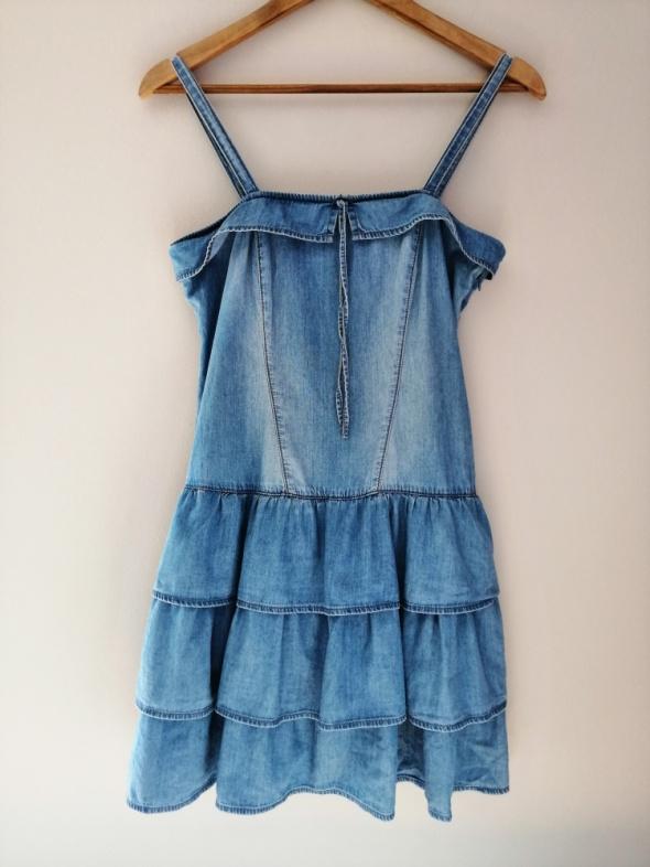 Rozkloszowana sukienka jeans George 38 M SB04