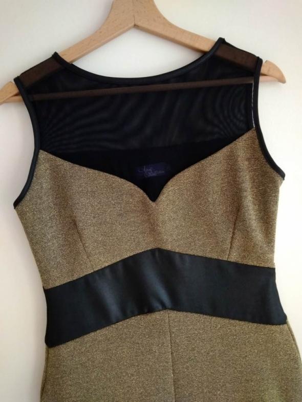 Sukienka ołówkowa w kolorze czerni i złota Amy Childs Collection 38 M