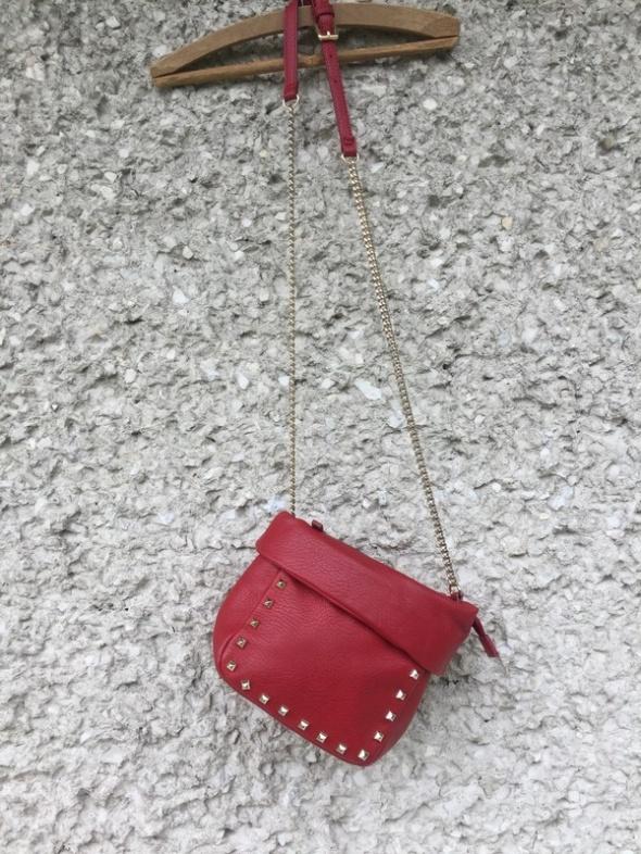 nowa torebka zara ćwieki czerwona torebka