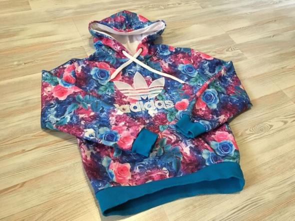 bluza adidas kwiaty flower XL