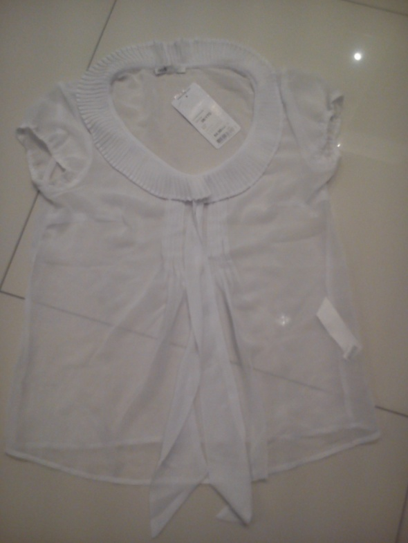 Biała bluzeczka w paseczki, Oodji, Koszula, rozm.34 Rybnik