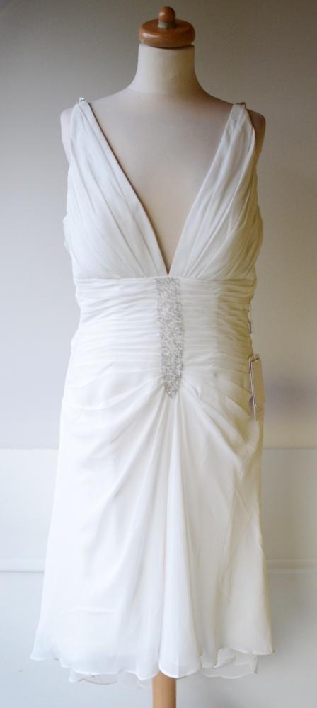 Suknia Biała Nowa JJSHouse M 38 Nowa Ślub Kryształ