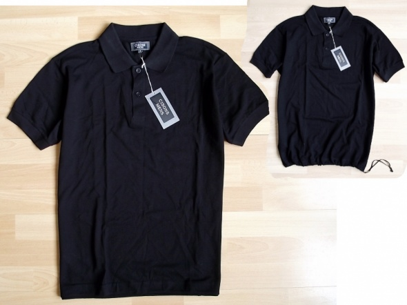 CISONS MENS czarna koszulka polo S nowa