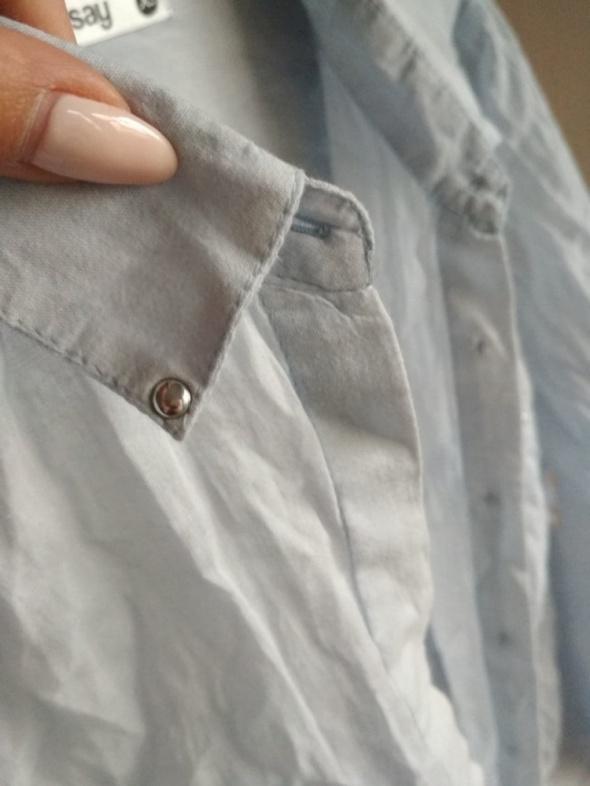 Koszula SINSAY XS mgiełka elegancka błękitna...
