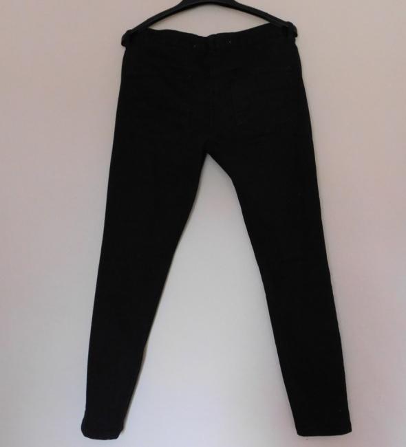 Next spodnie czarne jeans skinny rurki 36
