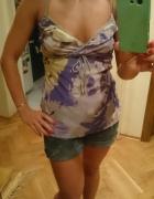 fioletowa bluzka nowa moro z falbankami 36 38...