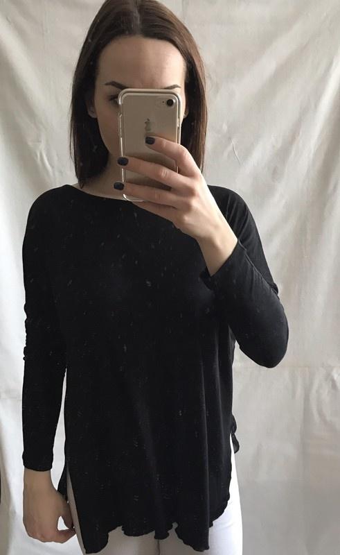 Czarna oversizowa bluzka mgiełka Reserved 36 S