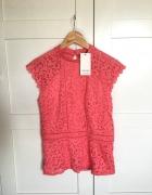Orsay koronkowa bluzka pudrowy róż nowa z metka M...