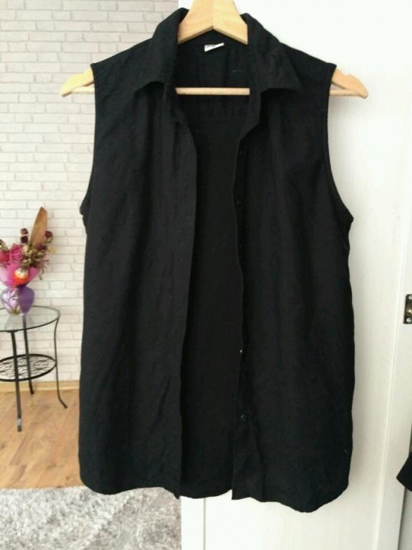 Elegancka czarna kamizelka rozpinana hm
