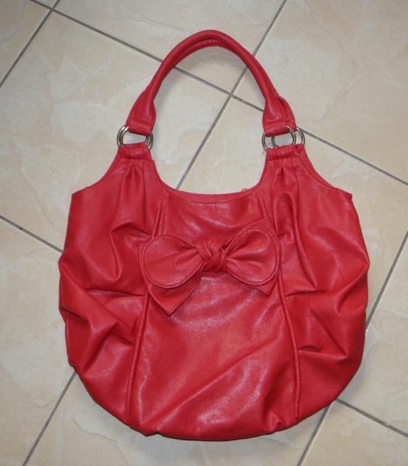 czerwona malinowa torebka torba Ravel...