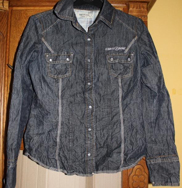 Koszula bluzka koszulowa jeansowa jeans gnieciona Big Star...