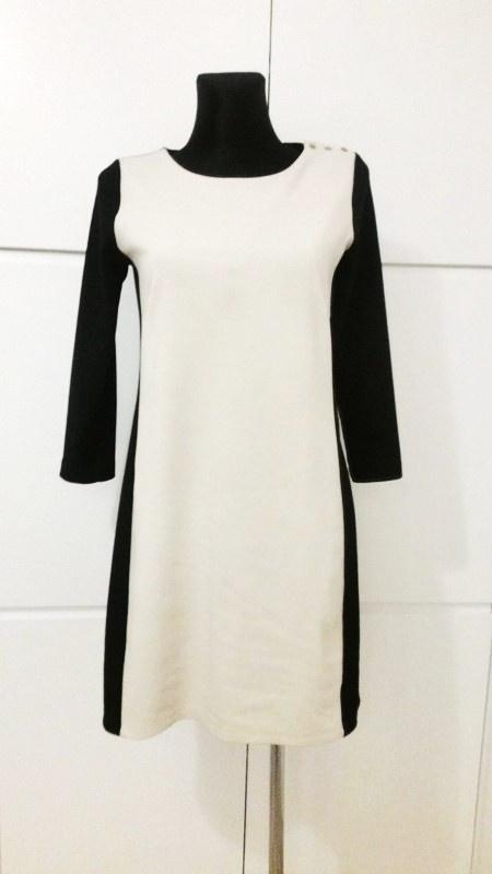 Dwukolorowa klasyczna sukienka Reserved M