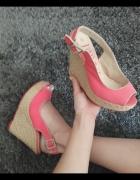 Jennifer platformy sandały różowe 38...