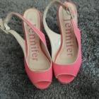 Jennifer platformy sandały różowe 38