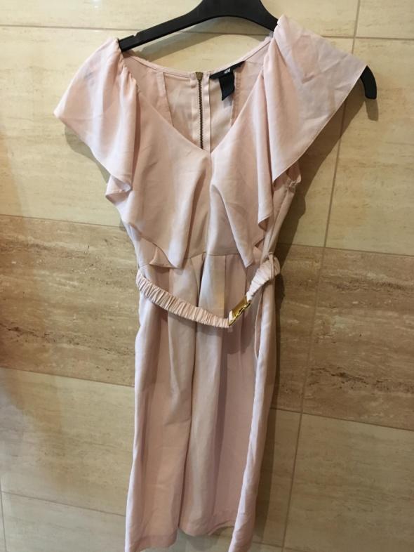 Sukienka pudrowy róż 36 S H&M