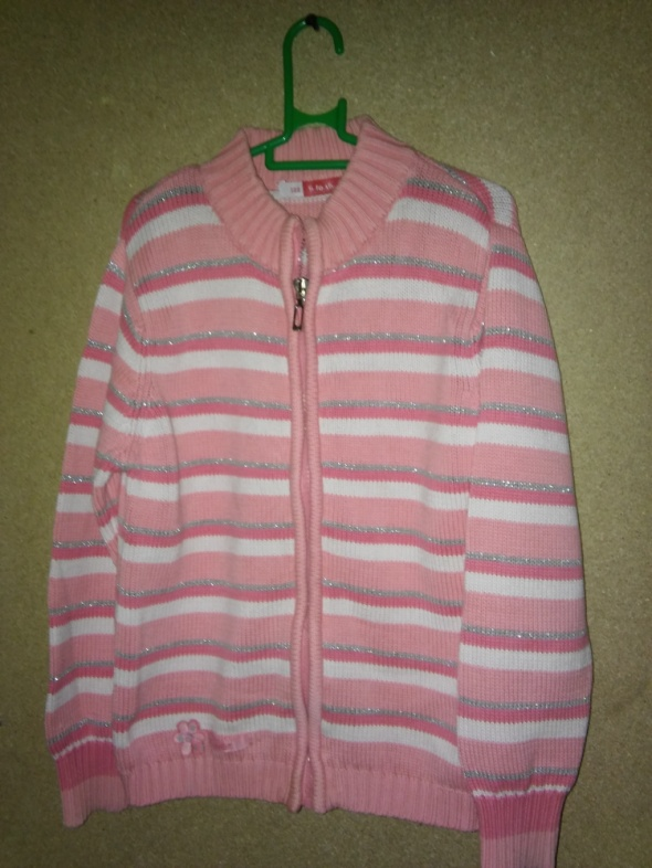 Różowy rozsuwany sweterek 122 cm 6 7 lat