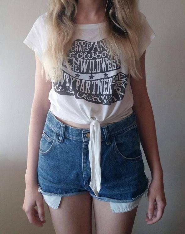 Biała koszulka H&M