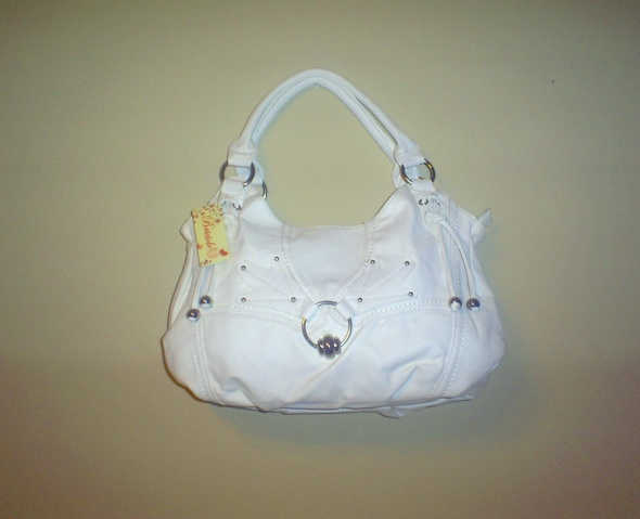 Nowa biała miękka torebka