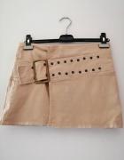 Beżowa spódnica mini Kookai 38 M bawełna