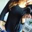 Czarna bluzka elegancka 36 S sztuczny jedwab...