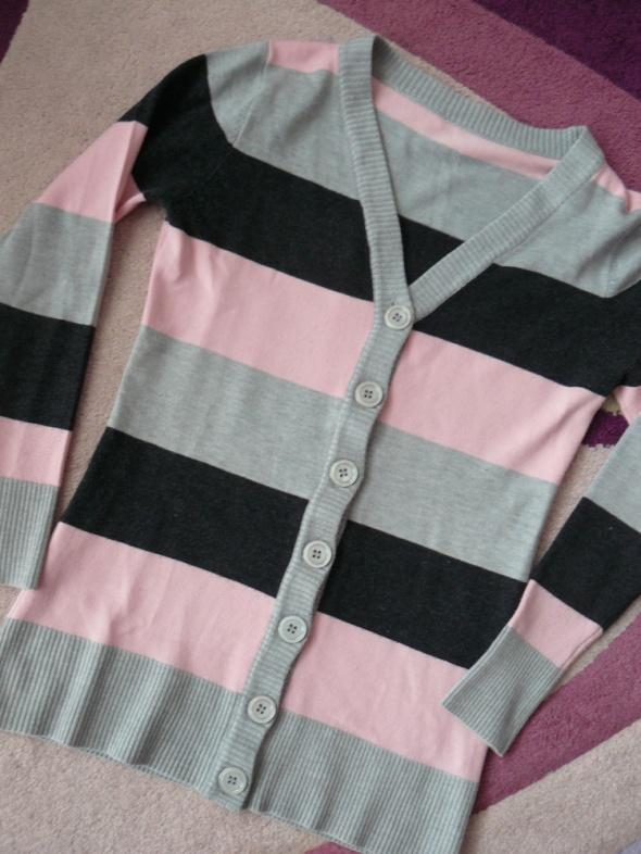 Sweterek w paski długi M L
