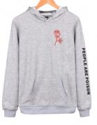 Bluza oversize z motywem różyczki napis s m l xl xxl
