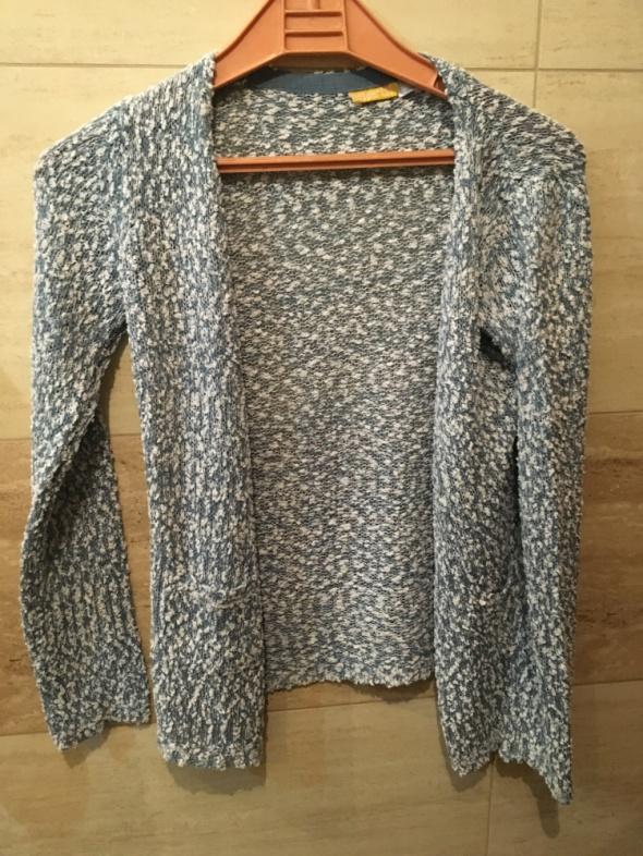 Swetry kardigan sweter narzutka ażurowa 36 S