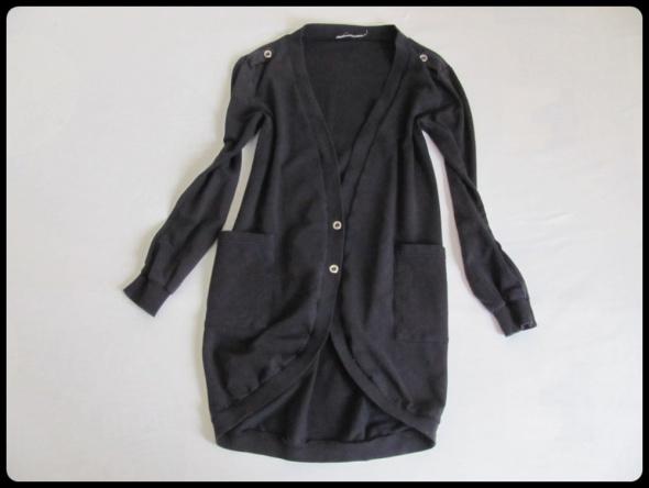 Swetry Sweter czarny rozpinany KARDIGAN rozmiar 38 M i 40 L