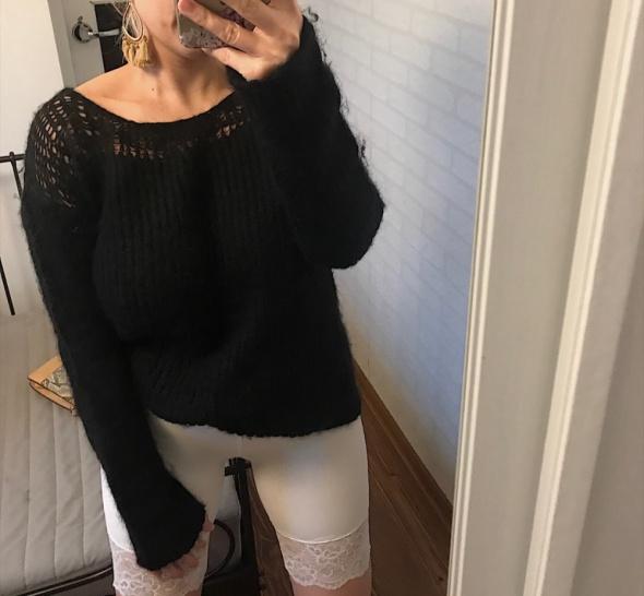 Asos piękny czarny sweter dobry skład