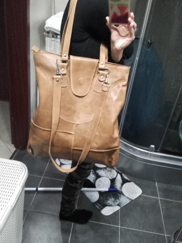 Autorska torebka damska ze skóry nat XXXL galeria