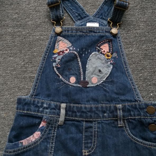 Sukienka jeansowa na szelkach F&F 4 5 lat