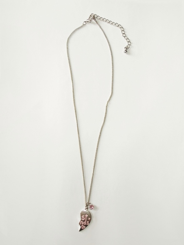 Srebrny naszyjnik z zawieszką serduszko serce H&M