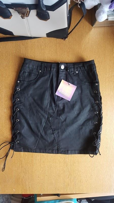 bdb12477e4 Nowa z metkami skorzana spodnica missguided s