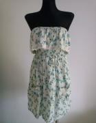 Sukienka w kwiaty Atmosphere S M falbanka...