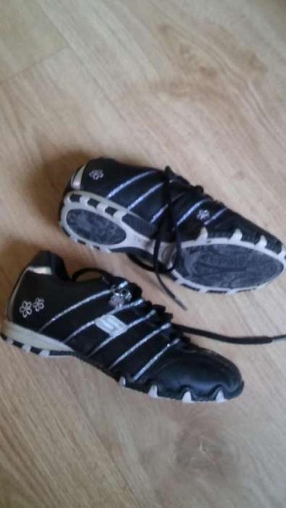 Sportowe czarno srebrne 32 Skechers
