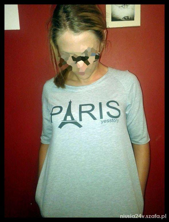 mega tunika szara z kieszeniami PARIS kolekcja 201