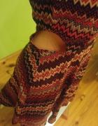 Sukienka aztec boho vintage rozkloszwana wyciecia na bokach...