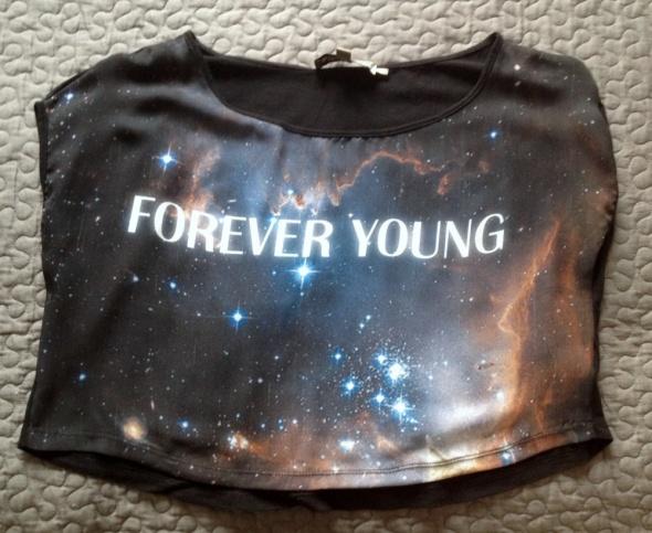 ATTRATTIVO koszulka galaktyka forever young 36 BDB