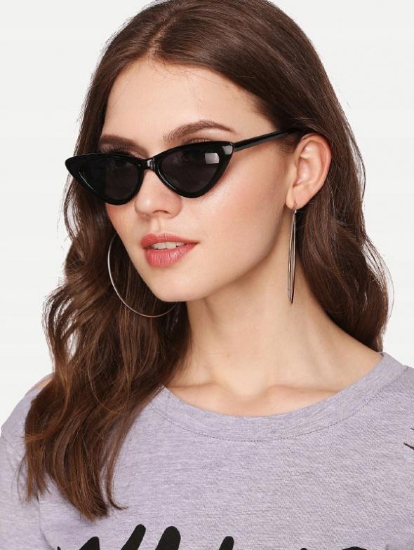 Okulary przeciwsłoneczne kocie okulary cat eye