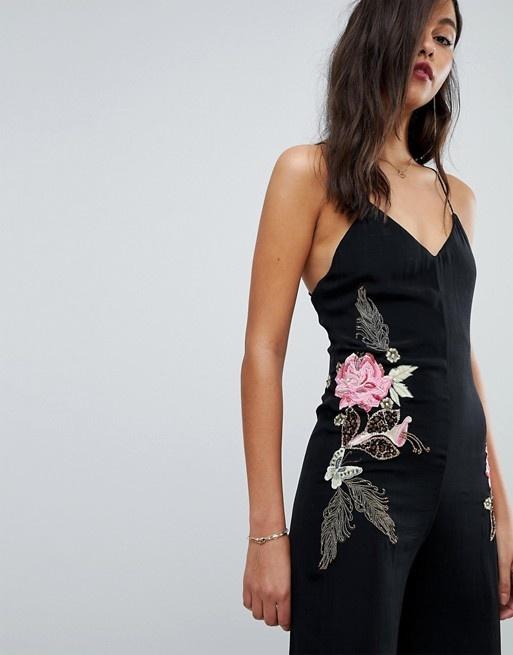 Elegancki haftowany kombinezon Millie Mackintosh 36 S