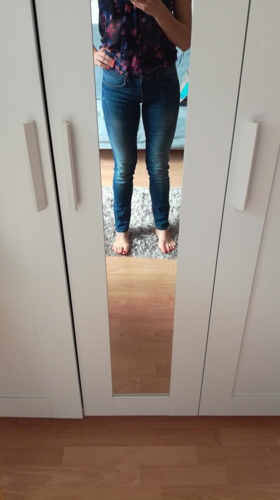 Big Star Jeans Fit Skinny ciemnoniebieskie z zamkiem przy nogaw...