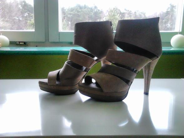 Sandały Beżowe sandałki