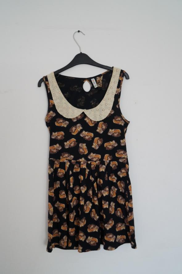 Sukienka w liski z kołnierzykiem rozmiar S M...