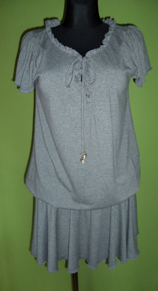 Sukienka tunika szara falbanka...