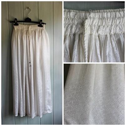 Spódnica maxi biała