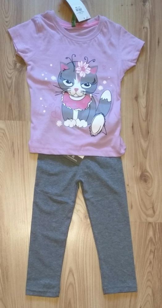 Komplecik bluzeczka z kotkiem i leginsy rozm 104